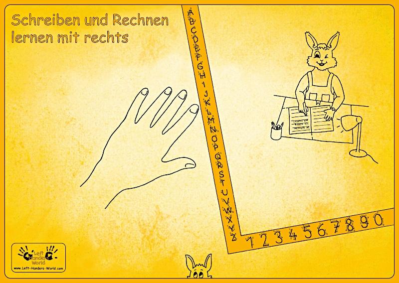 """Rechtshänder Schreibunterlage """"Hasenkind"""""""