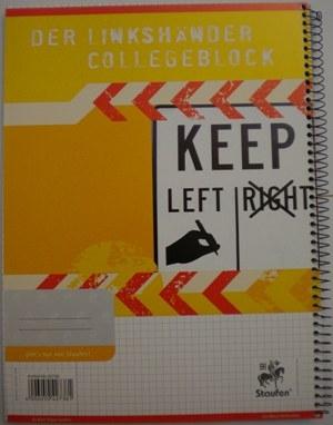 Linkshänder Collegeblock karriert