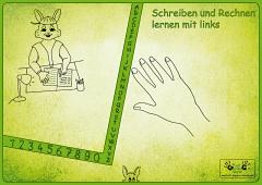 """Linkshänder Schreibunterlage """"Hasenpapa"""""""