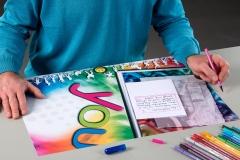 """Linkshänder Schreibunterlage """"Rainbow"""""""