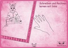 """Linkshänder Schreibunterlage """"Hasenmama"""""""